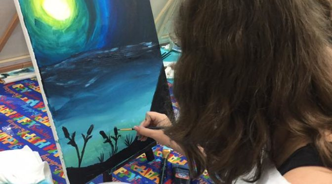 Fall Palettes and Palates Paint Night for Teens