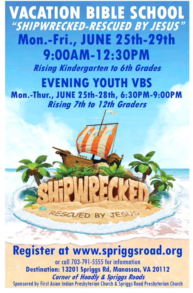 Meeting Dates for VBS Volunteers