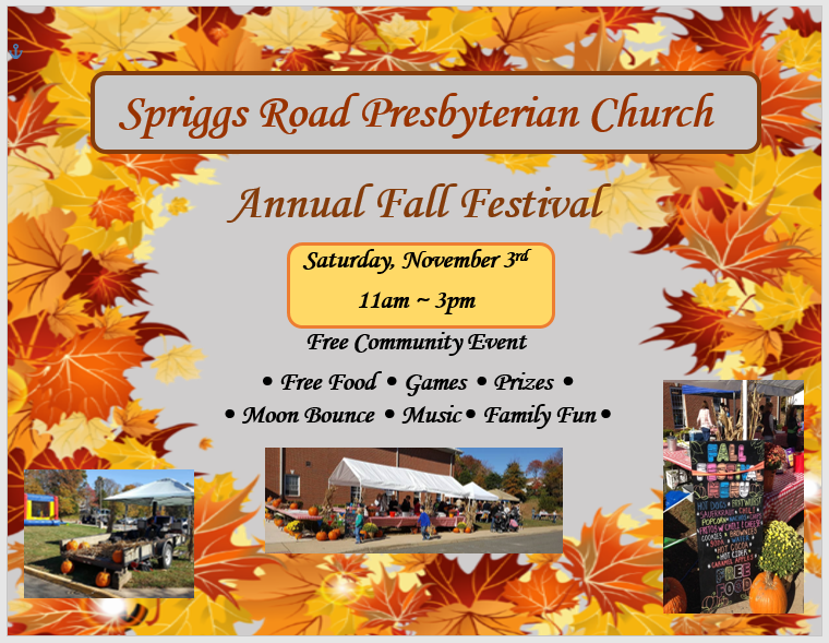 Fall Festival Reminders