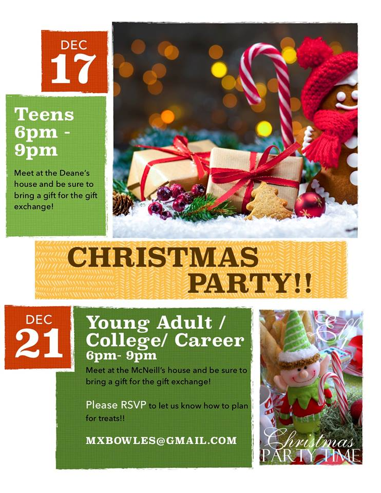 SRPC College and Career Christmas Party: Dec. 21 6PM